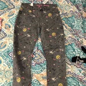 Emoji Gray Jeans The Children's Place size 12 NWT